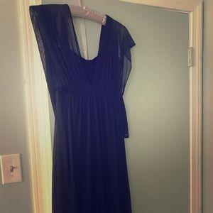 Black convertible floor-length evening gown